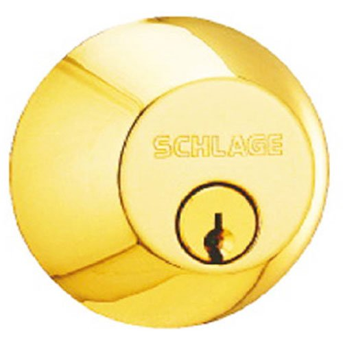 605 Single Cylinder Deadbolt, Brass (Sgl Cylinder)