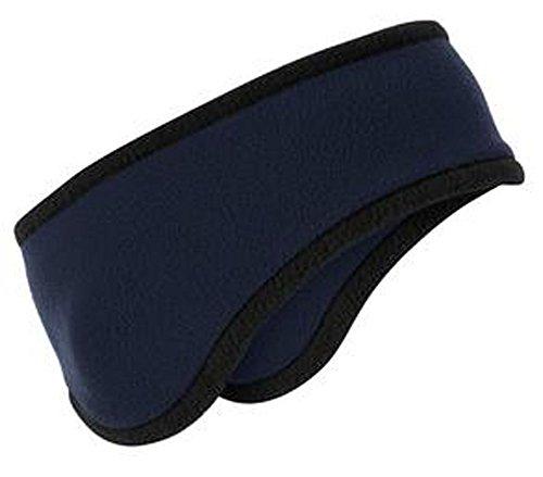 Men/Women Polar Fleece Ear Warmer Headband, Navy (Heater Ear)