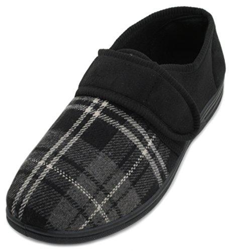 SlumberzzZ - Zapatillas de estar por casa de Material Sintético para hombre negro
