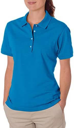Jerzees womens 5.6 oz. 50/50 Jersey Polo with SpotShield(437W)