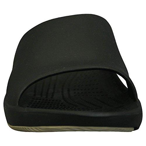Dawgs Womens Premium Sandalo Scorrevole Nero / Marrone Chiaro