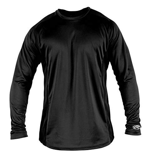 - Rawlings Boy's Long Sleeve Baselayer Shirt, Black, Large (Renewed)