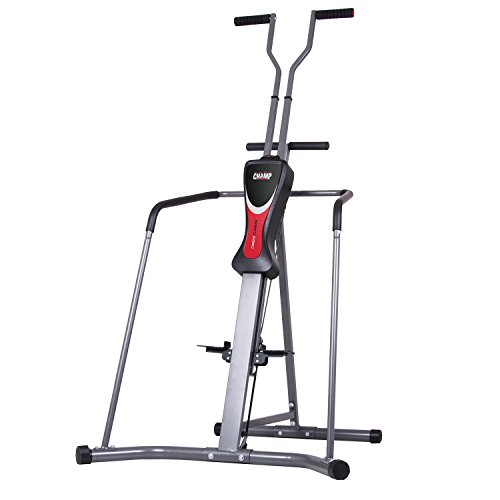 Body Champ Cardio Climber with Full Wraparound Stability Rails, Gray