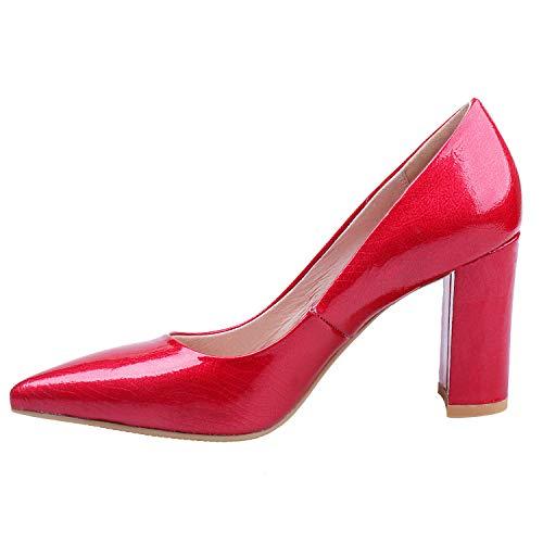 36 ZAPROMA pour Red Escarpins Rouge 036 5 SA Femme xwZxWSTn