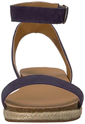 Lucky Brand Women's Lk-Garston Flat Sandal, Black Moroccan Blue