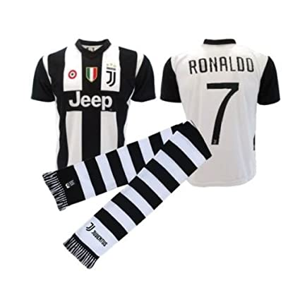 JUVE Maglia ufficiale autorizzata juventus Cristiano Ronaldo CR7 bianconeri + sciarpa (extra large)