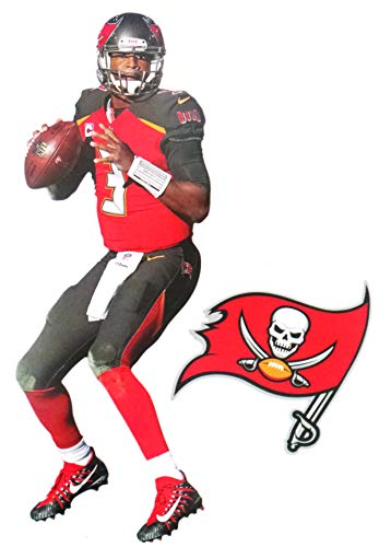 Jameis Winston Mini FATHEAD Graphic + Tampa Bay Buccaneers Logo Official NFL Vinyl Wall Graphics 7