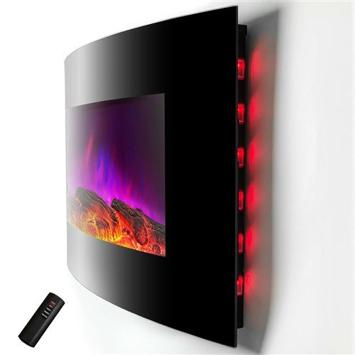Cheap  Wall Mounted Electric Fireplace Space Heater with Remote 5,200 BTU Fireplace Wall..