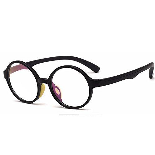 138 Eyeglasses - Fantia Children's Glasses Frame Round Tr90 Silicone Eyeglasses Clear Lens (C5)