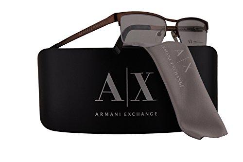 Armani Exchange AX1005 Eyeglasses 52-16-140 Bronze w/Demo Clear Lens 6001 AX - 6001 Sunglasses