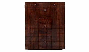 Aprodz Sheesham Wood Wine Storage Ranford Stylish Bar Cabinet for Living Room | Mahogany Finish