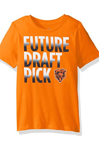"NFL Boys 4-7""Future Draft Pick Short Sleeve Tee-Orange-L(7), Chicago Bears"