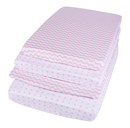 waterproof pack n play sheet mini crib sheet set with mattress pad cover protection 2 pack. Black Bedroom Furniture Sets. Home Design Ideas