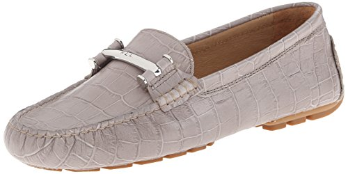 Ralph Lauren Croc (Lauren Ralph Lauren Women's Caliana Slip-On Loafer, Stone Embossed Croc, 5.5 B)