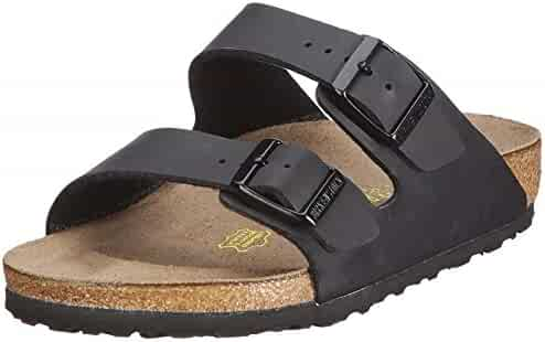 Birkenstock Women's Arizona  Birko-Flo Black Birko-flor Sandals - 45 N EU (US Men EU's 12-12.5)