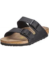 Women's Arizona Birko-Flo Black Birko-flor Sandals - 45 N EU (US Men EU's 12-12.5)