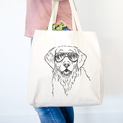 Toby the Golden Retriever Heavy Duty 100% Cotton Canvas Tote Shopping Reusable Grocery Bag 14.75 x 14.75 x 5 ()