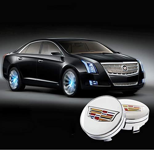 Bearfire 4Pcs Waterproof LED Light Wheel Hub Center Caps Cover for Cadillac Accessory