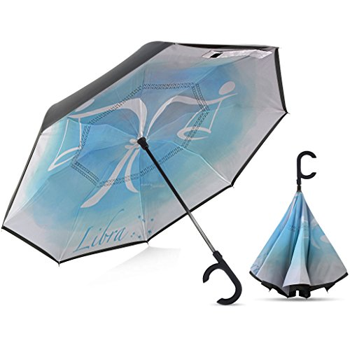 Broni Large Inverted Auto Umbrella | Libra Zodiac