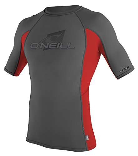 O'Neill Wetsuits UV Sun Protection Mens Skins Short Sleeve Crew Sun Shirt Rash Guard
