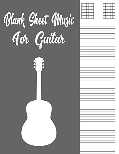 (Blank Sheet Music for Guitar: Blank Sheet Music for Guitar:Guitar Tab Notebook, Good Life Quotes, Music Composition Books, Music Manuscript Paper 110 ... Staff Paper, Bass Clef Play Rest Repeat ,gift)