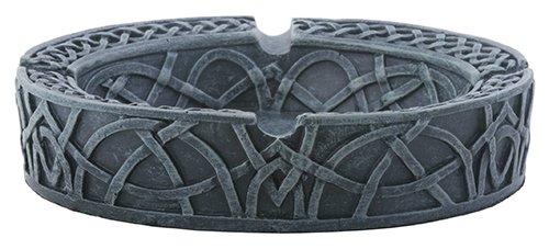 Ebros Gift Medieval Fantasy Celtic Ashtray Cigarette Tray Round Shape Knotwork Figurine 5