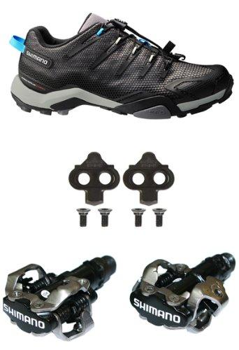 Shimano MT44 50-Trail MTB-Scarpe da ciclismo & PDM520 Nero & SH51-Tacchette per pedali