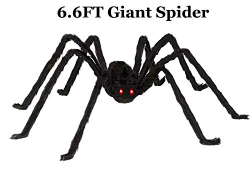 AISENO Giant Spider 6.6FT/200CM Halloween Decorations Foldable Spider Best Halloween Decoration Haunt]()