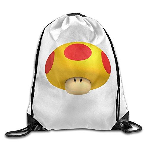 [SAXON13 Unisex Geek Super Mushroom Drawstring Bag] (Chess Player Costume)