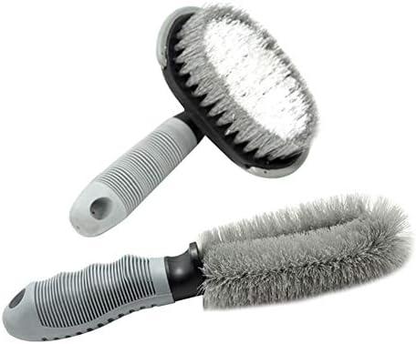 Demarkt Autovelgenborstel voor uw staal 2 stuks auto velgenborstel kunststof handvat reinigingsborstel wasgereedschap