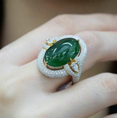 (Crookston Vintage Woman Men 925 Silver Emerald Ring Fashion Wedding Engagement Size 6-10   Model RNG - 16277   8)