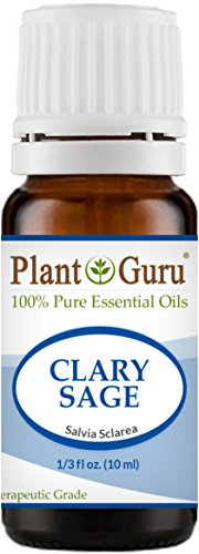 Clary Sage Essential Oil 10 ml. 100% Pure Undiluted Therapeutic Grade. (Tonic Nervine)