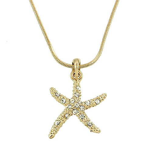 Starfish Pendant Charm Necklace - 3