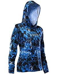 reputable site fa5a5 d14a6 Women s Long Sleeve Hooded Sunshirt UPF 50+ Sun Protection Performance  Fishing Hoodie Athletic Workout Tops