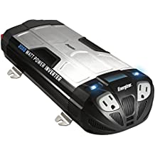 ENERGIZER 2000 Watt Power Inverter converts 12V DC from car's battery to 120 Volt AC with 2 USB ports 2.1A shared compatible with iPad iPhone