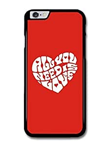 """AMAF ? Accessories All You Need Is Love John Lennon The Beatles Quote In A Heart case for iPhone 6 Plus (5.5"""")"""