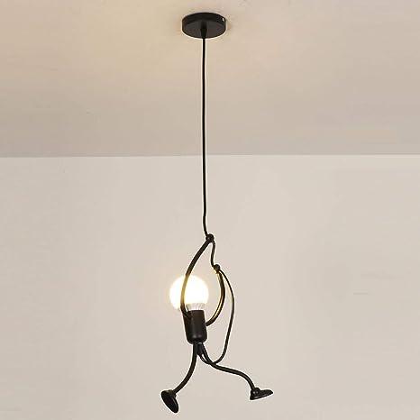 Lámpara de techo Creativo Hierro Personas Diseño de dibujos ...