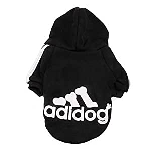 Hoodie Fleece sweater Black Dog Clothes, Size S