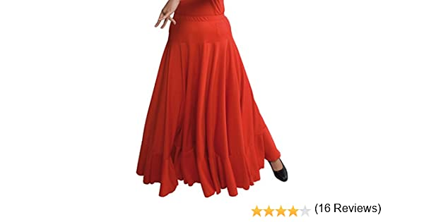 Happy Dance 147 - Falda de flamenco para mujer, color rojo, talla ...