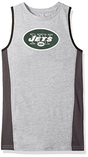 Outerstuff NFL New York Jets Youth 8-20 Fan Gear Tank Top, Small (8), Heather ()
