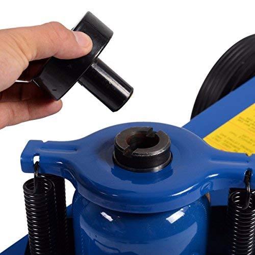 Goplus 22 Ton Air Hydraulic Floor Jack Truck Lift Jacks Service Repair Lifting Tool with Wheels by Goplus (Image #6)