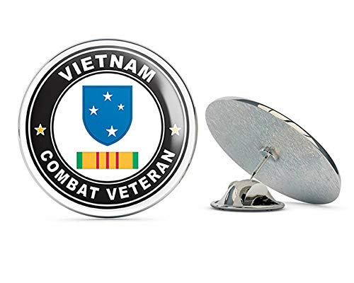 (US Army 23rd Infantry (Americal) Division Vietnam Combat Veteran with Ribbon Metal 0.75