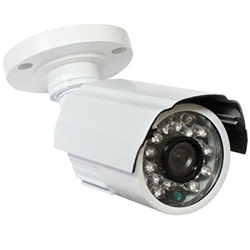 (GW Security Inc VD649W 1/3-Inch CCD Security Outdoor Camera, 600TV Line, 3.6mm Lens, 24 Pieces Infrared LED, 65-Feet IR Distance and Water)