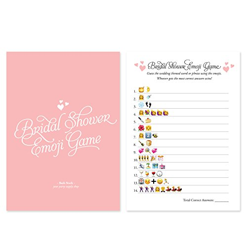 50 CARDS Emoji Bridal Shower Games Ideas, Bridal Party Wedding Shower, Bridal Shower Activities, Bachelorette or Engagement Party For Men and Women, Bride to Be Party set (Ideas Shower Wedding)