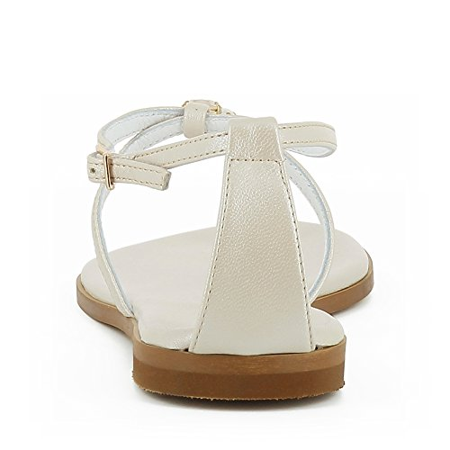 Shoes Lisse Nacre Cuir Sandale Olimpia Evita Femme gpwTqq