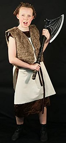 [Medieval-Re-enactment-Larp-Viking-Cosplay-SCA- VIKING GIRL 03 Costume - All Ages (AGE 7-8)] (Larp Costumes Uk)
