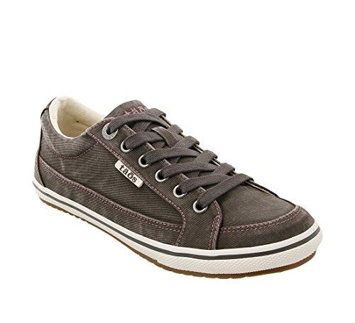 Taos Footwear Women's Moc Star Graphite Distressed Sneaker 10 M US