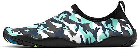 アウトドアビーチシューズ男性と女性のスイミングシューズ、迷彩グレーストライプダイビングシューズ速乾性の水の流れの靴シュノーケリングの靴黒 ポータブル (色 : Black, Size : US8.5)