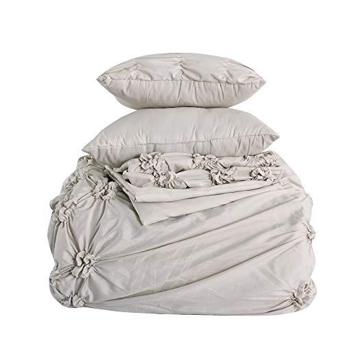 Amrapur Overseas 8-Piece Sophie Comforter Set, Queen, Sand