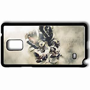 taoyix diy Personalized Samsung Note 4 Cell phone Case/Cover Skin 742 st louis rams Black